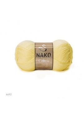 NAKO CALICO 4492 jasny żółty