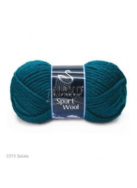 Nako SPORT WOOL 2273 zielony morski